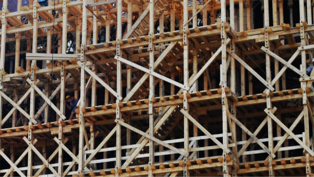 scaffolding material wood